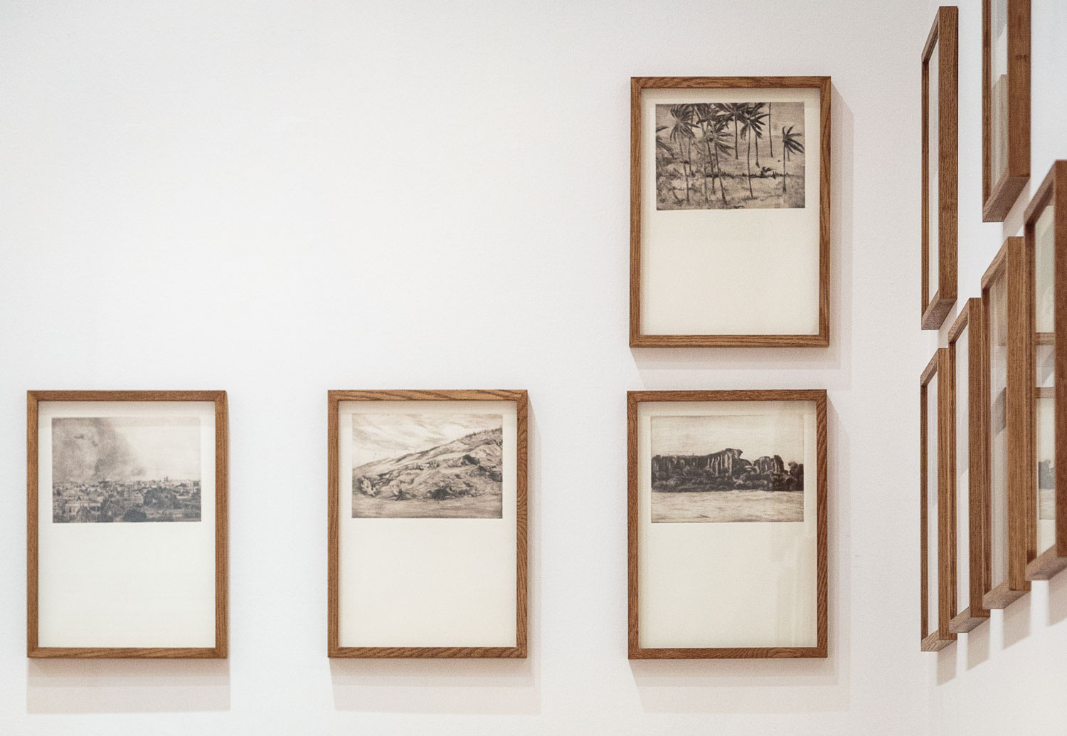 Alessandro Piangiamore | Tutto il vento che c'è (from left to right, starting at the top right: Elephanta, Haboob, Gilavar, Gardesana) 2010-2013, etchings, cm 31x40 each.