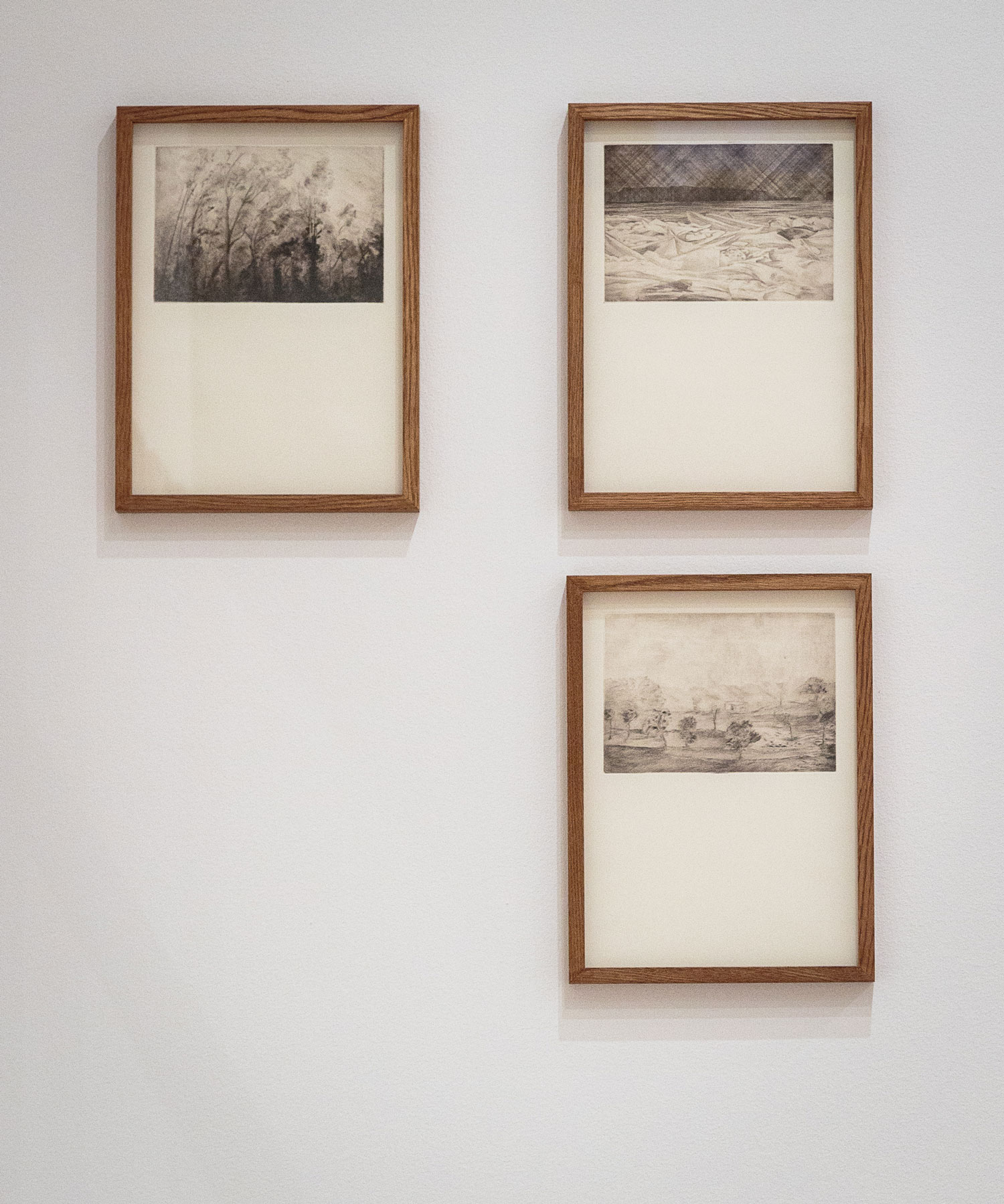 Alessandro Piangiamore | Tutto il vento che c'è (from left to right, starting at the top left: Marine, Košava, Loo), 2010-2013, etchings, cm 31×40 each.