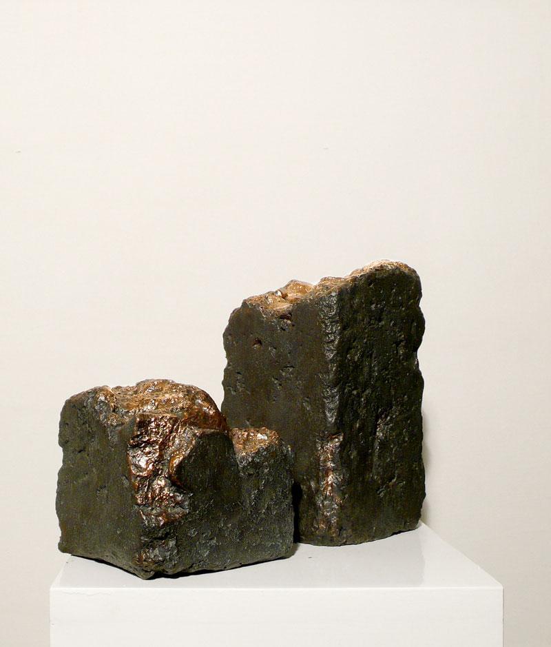 Alessandro Piangiamore | Tutto il vento che c'è (Dadur), 2010-2011, cast bronze, cm 13x13x13 and 13x13x17.  Edition of 2 + 1 a.p.