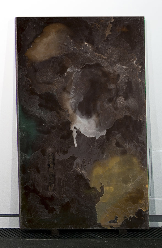 Alessandro Piangiamore | La cera di Roma #4, 2012 Melted beeswax, paraffin, carnauba and palm wax candles. cm 205 x 125 x 4