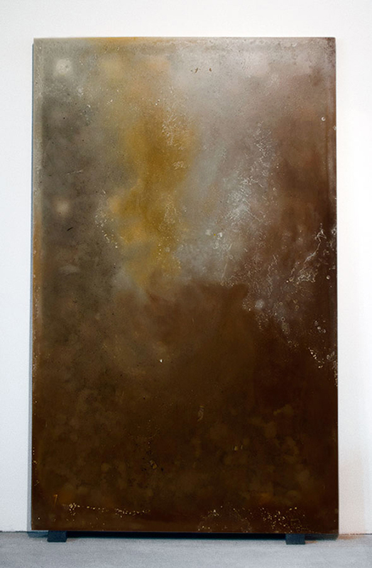 Alessandro Piangiamore | La cera di Roma #9, 2013 Melted beeswax, paraffin, carnauba and palm wax candles. cm 205 x 125 x 4