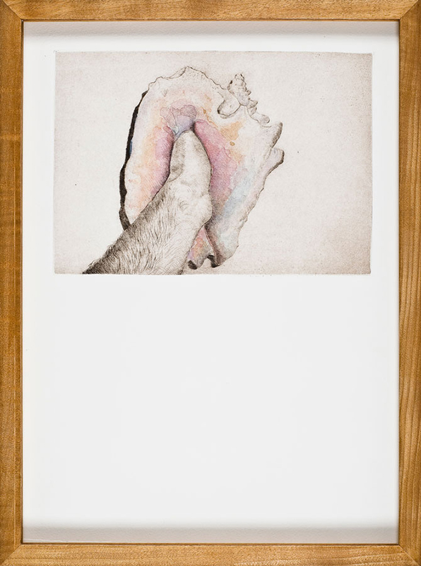 Alessandro Piangiamore | Untitled (ordinary facts #2), 2011, etching and watercolor on paper, cm 32 x 43. Edition of 2 + 1 AP
