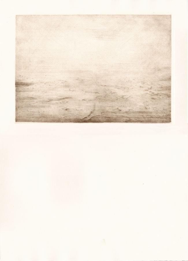 Alessandro Piangiamore | Tutto il vento che c'è (Kali Andhi) 2010-2014, etching, cm 31×40 . Edition of 3 + 2 AP