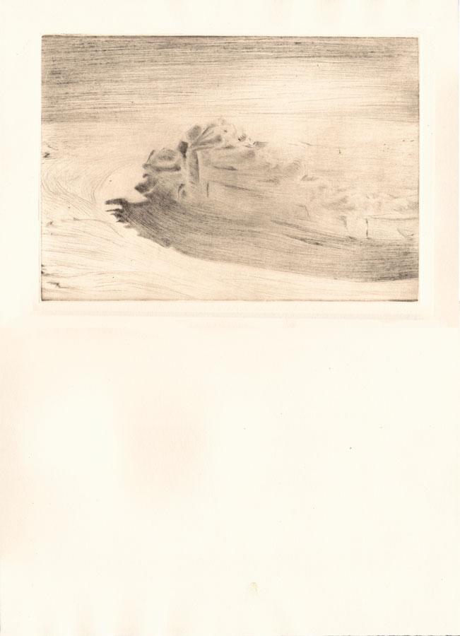 Alessandro Piangiamore | Tutto il vento che c'è (Piteraq) 2010-2014, etching, cm 31×40 . Edition of 3 + 2 AP