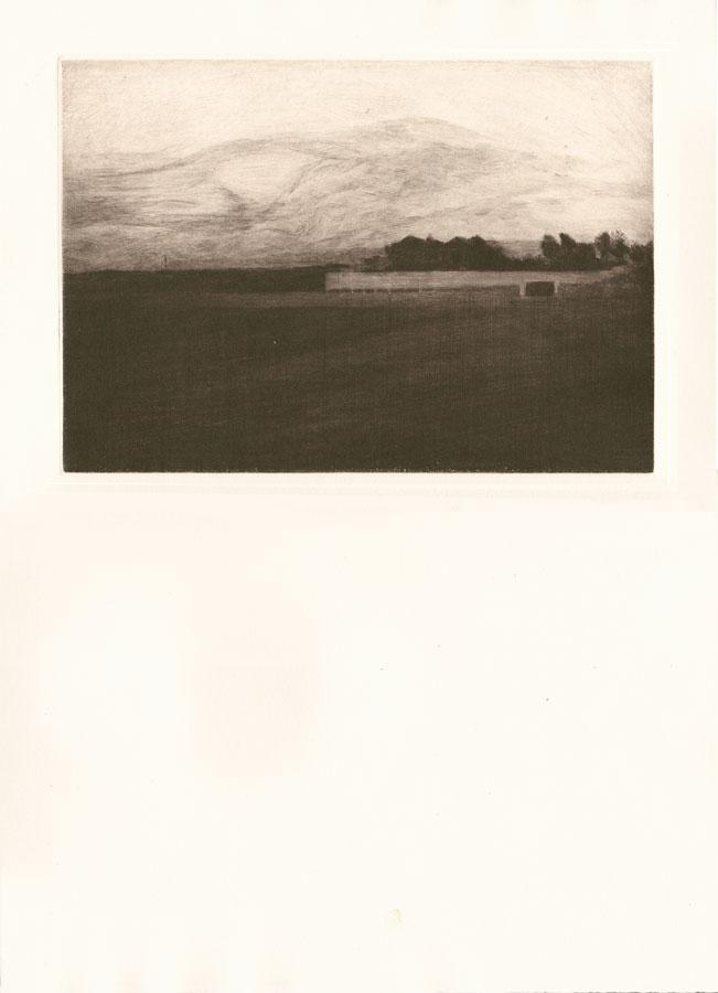 Alessandro Piangiamore | Tutto il vento che c'è (Santa Ana) 2010-2014, etching, cm 31×40 . Edition of 3 + 2 AP
