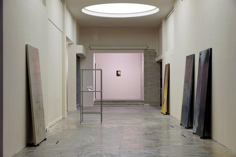 Alessandro Piangiamore | Primavera Piangiamore, 2014. Exhibition view at Palais de Tokyo - Modules Fondation Pierre Bergé - Yves-Saint-Laurent. Photo: Aurélien Mole.