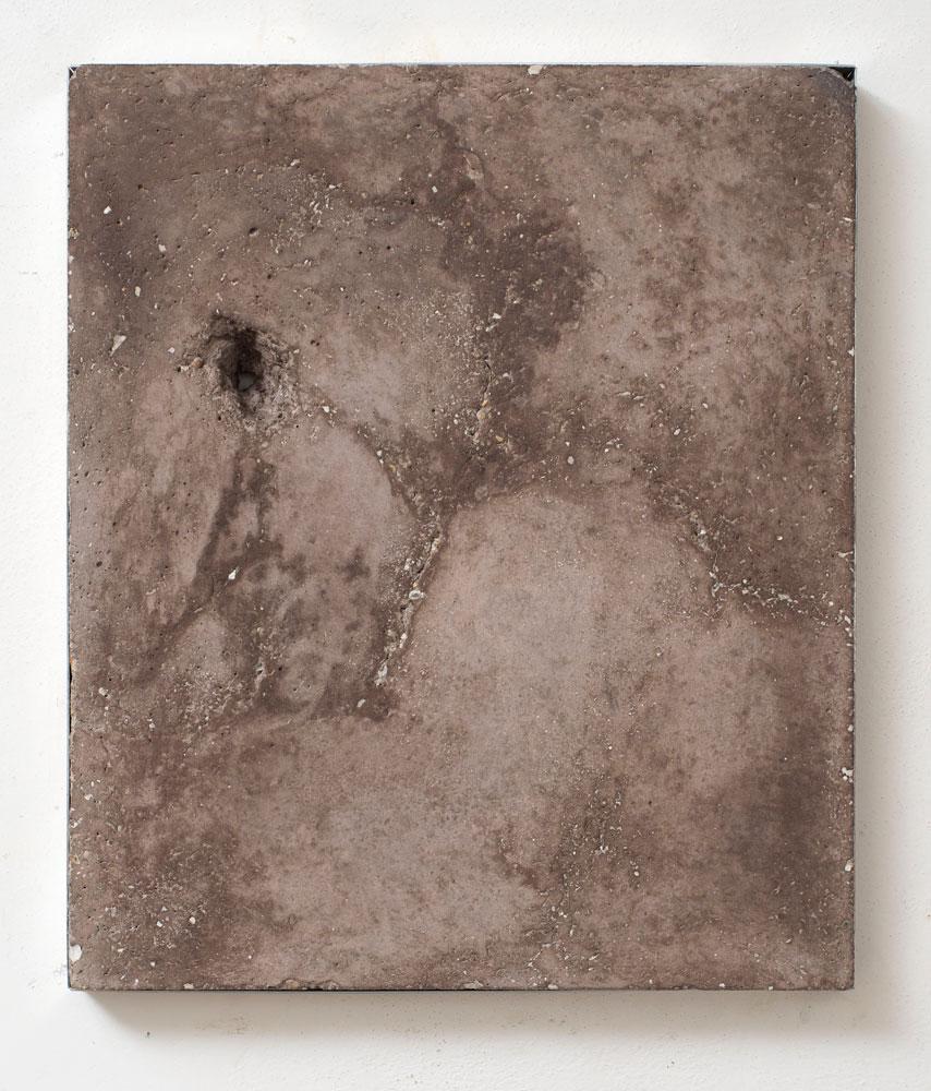 Untitled (daily)#5 , 2013 Concrete, mother of pearl powder, lemon juice, vaseline, wax, cm 30 x 46 x 3